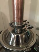 Alcohol Distilling Moonshine Keg Column 2 X 12 Copper And Stainless Steel Diy