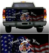 Soldier Freedom Home Of Brave Truck Tailgate Vinyl Graphic Decal Wraps