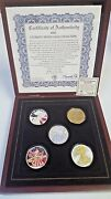 2005 Ultimate Silver Eagle Hologram Collection - 5 Coin Set W/ Box And Coa