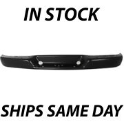 New Primered Steel Rear Bumper Bar For 1996-2018 Chevy Express And Gmc Savana Van