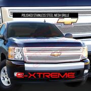 Fit Chevy Silverado 1500 2007 08 09 10 11 12 13 Wired Mesh Grille Grill Overlay