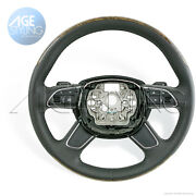 Audi A6 A7 4g Walnut Wood And Black Leather Tiptronic Steering Wheel 4g0419091lovr