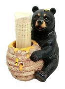 Collectibles Honey Black Bear With Bee Hive Decorative Toothpick Holder 4 Tall