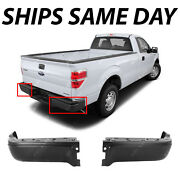 New Primered - Drivers Passengers Steel Rear Bumper Ends For 2009-2014 Ford F150