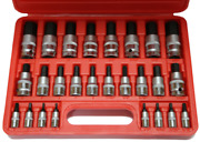 26 Piece Sae And Metric In-hex Socket Set Tande Tools 94126
