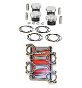 Manley Hd Pistons+turbo-tuff Plus I/b Rods For Ford Ecoboost 2.0 87.5mm Focus St