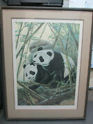 John Ruthven Giant Pandas Print Double Signatures And Hand Numbered