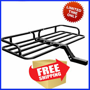 Cargo Carrier 2 Hitch Truck 4x4 Fishing Cooler Rod Holder Mount Rack Surf Cover