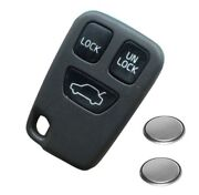 4 Button Remote Key Fob Case Shell For Volvo S40 S80 V40 S70 C70 V70 2 Batteries