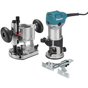 Makita 1-1/4 Hp Slim And Compact Double Insulated Router Kit Rt0701cx7 New