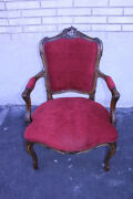 Elegant 19th C. Country French Beechwood Side Accent Chair New Upholstery