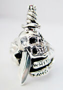 White Fang Toothpick Silver Ring