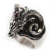 Rams Head Sterling Silver Ring