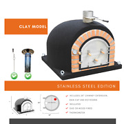 Dome Ovens® Pizza Oven With Free Ss Chimney, Ss Rain Cap And Rotisserie