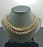 Real Genuine 10k Yellow Gold Mens Byzantine Chain Necklace 30 Inch 10mmlobster