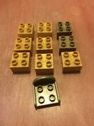Lego Duplo Lot Of 10 2x2 Golden Pieces Bricks And Princess Chair Seat Trone