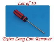 Lot Of 10 Extra Long Valve Stem Core Remover Tire Repair Tool Red And Black Handle