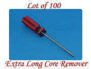 Lot Of 100 Extra Long Valve Stem Core Remover Tire Repair Tool Red And Black Hand