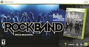 New Xbox 360 Beatles Rock Band Special Value Edition Guitar Drums Game Andmic Rare