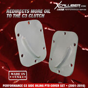 Xcalliber Performance C3 Side Oiling Pto For Allison Transmission Cover Set Of 2