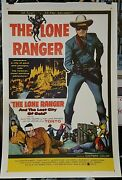 The Lone Ranger And The Lost City Of Gold / Original 1 Sheet Movie Poster