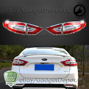 For 2013 2014 2015 2016 Ford Fusion Chrome Tail Light Cover Bezel Molding And Trim