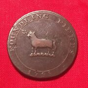 1795 Foundling Fields Jb Cypher British Colonial Halfpenny Copper Conder Token
