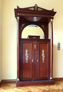 Vertiko Wardrobe With Gold-plated Brass Fittings Empire 1890