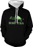 Irish Yoga Drunk Passed Out Beer Cans Ireland Pose Do Two Tone Hoodie Sweatshirt