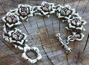 Imperial Rose Silver Bracelet With Rubies