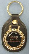 Vintage Jeep Grand Cherokee 5314 Royal Classic Gold Key Ring Leather Key Fob