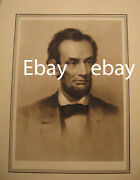 Old And Rare Antique Print Of A Young Abe Abraham Lincoln - Beard Civil War