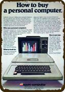 1978 Apple Ii Computer Vintage Look Decorative Metal Sign - How To Buy A Compute