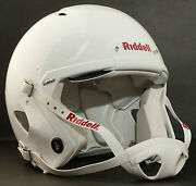 Adult Large Riddell Speed Football Helmet Flat White W/s2bd-sw-sp Facemask