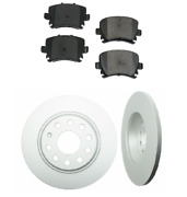 2 Rear Ate Coated Rotors Opparts Brake Pad Set Kit For Cars W/ 282 Mm Disc Audi