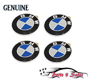 Bmw Genuine E30 E34 E36 E39 Set Of 4 Emblems Wheel Center Cap 58mm 36131181081