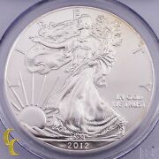2012-w First Strike 1 Silver American Eagle 1 Oz Graded By Pcgs Ms70