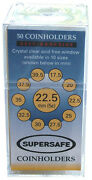 22.5 Mm Coin Flips Supersafe Self Adhesive 2x2 1000 Holders Us Nickels Free Post