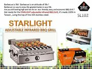 Portable Sl102 Starlight Adjustable Infrared Bbq Grill W/ All Accessories Lp Ng