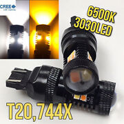 Switchback Cree Led T20 7443 7444 W21/5w Front Signal Parking Drl Light