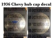 1936 Chevy Hub Cap Decal Set 5 Caps Worth Hubcap
