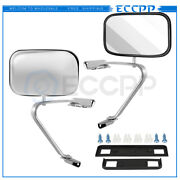 Manual Stainless Steel Door Side Plastic Mirrors For Ford Series Pickup Pair