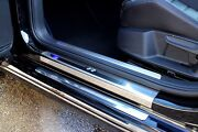Vw Golf Mk7 2013 And039rand039 Stainless Steel Kick Plate Car Door Sill Protectors - 8pce