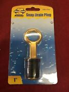 1 Rubber Brass Snap Flip Style Boat Hull Livewell Drain Plug Bass Tracker Lowe