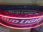 Very Rare Bud Light Neon Beer Sign 42x10x12 Arch Shape One Of A Kind Sign