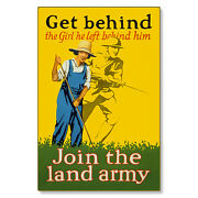 Home Front Victory Garden Land Army Wwi Poster Metal Sign Steel Not Tin 24x36