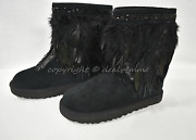 New Ugg Classic Short Peacock Boots With Feathers/ Crystals Us Size 7 M