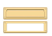 Standard Mail/letter Slot Solid Brass 13-1/8 With Interior Frame 9 Variations