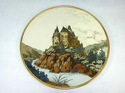 Large Geritzter Plate/wall Plate Villeroy And Boch Mettlach 1907 Castle