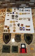 Us Military Pin Lot Army Navy Marines Air Force Police Assorted Rare Patches